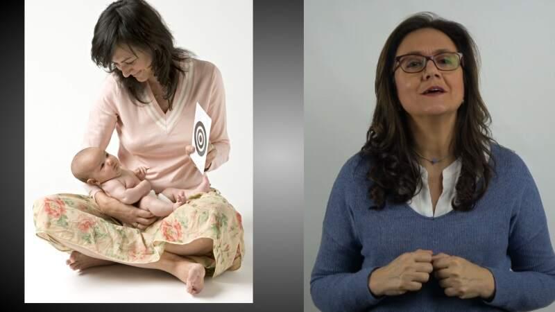 Sección 3 Clase 3 Al captar la atención del bebé, le enseñamos a concentrarse.                              VIDEO 5,35 minutos + Libro de 10 capítulos.