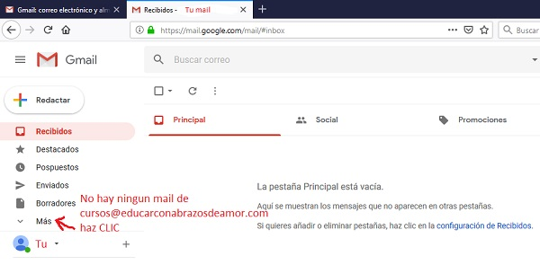Consulta tu bandeja de correo no deseado en tu Gmail1.