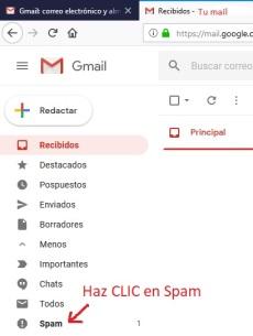 Consulta tu bandeja de correo no deseado en tu Gmail2.