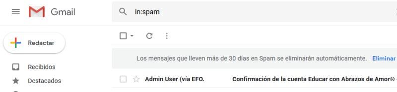 Consulta tu bandeja de correo no deseado en tu Gmail3.
